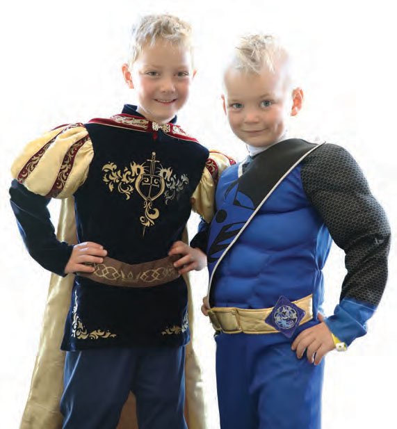 Two boys in costume