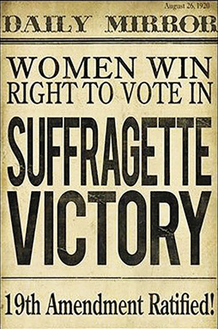 Daily Mirror: Women win right to vote in suffragette victory