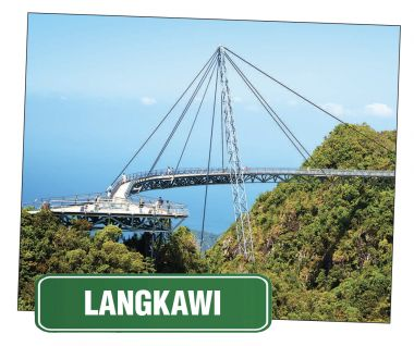 Sky view of the Langkawai Aky Bridge, Malaysia