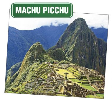 Sky view of Machu Picchu, Peru.